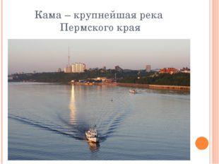 Кама – крупнейшая река Пермского края