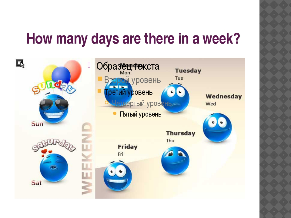 How many days are there in a week?