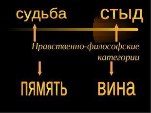 Нравственно-философские категории