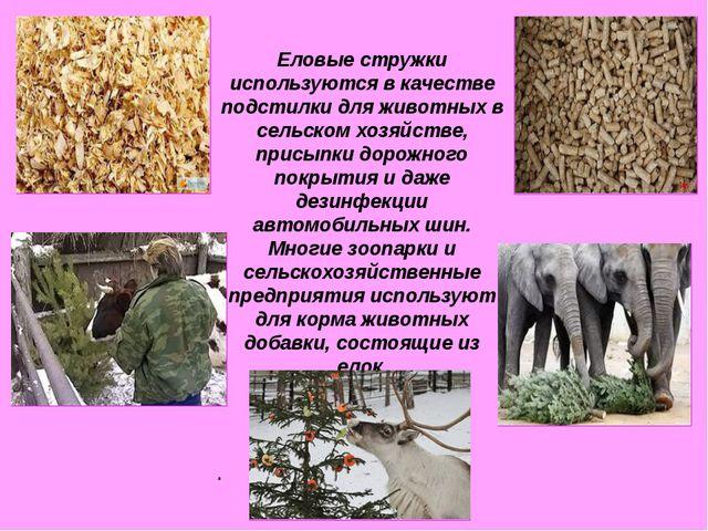 Еловые стружки используются в качестве подстилки для животных в сельском хоз...