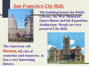 San Francisco City Hall. The building houses the Public Library, the War Memo