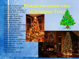 Рождественская елка (Christmas Tree) Обычай украшать ель появился в Англии ср