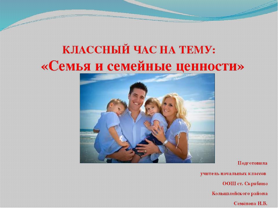 для классного часа тема семья картинки бесплатно