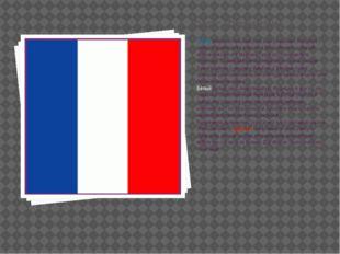 Флаг Франции Синее знамя использовалось еще со времен Хлодвига I, первого фра