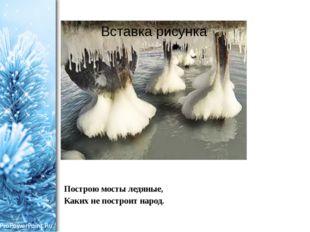Построю мосты ледяные, Каких не построит народ. ProPowerPoint.Ru