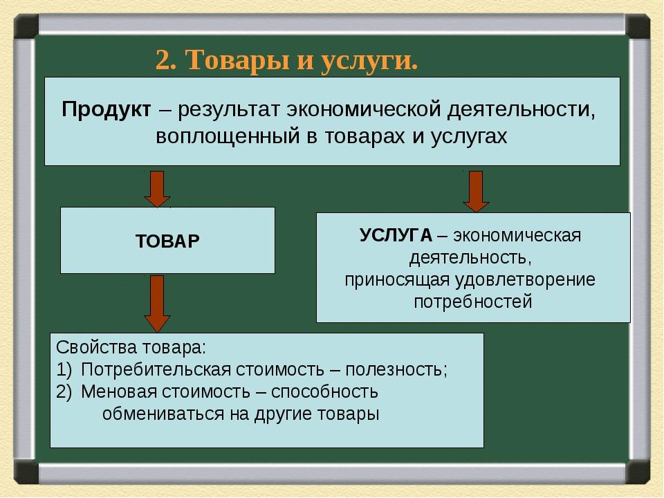 Продукт – результат экономической деятельности, воплощенный в товарах и услуг...