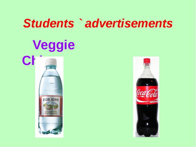 Students ` advertisements Veggie Chips