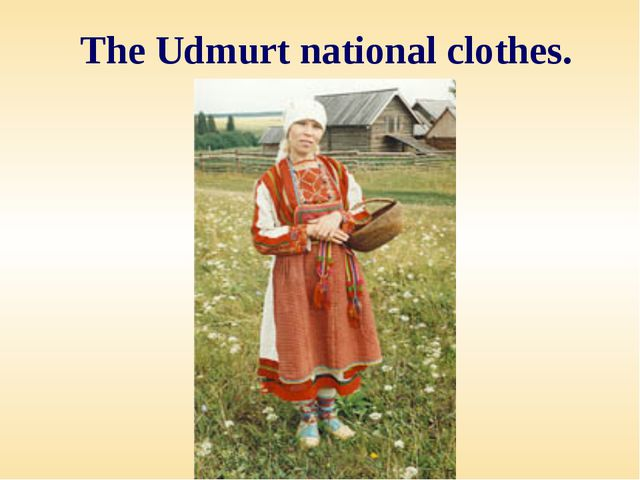The Udmurt national clothes.
