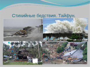 Стихийные бедствия. Тайфун.