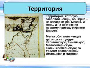 Территория, которую заселяли ненцы, обширна – на западе от рек Мезень и Несь,