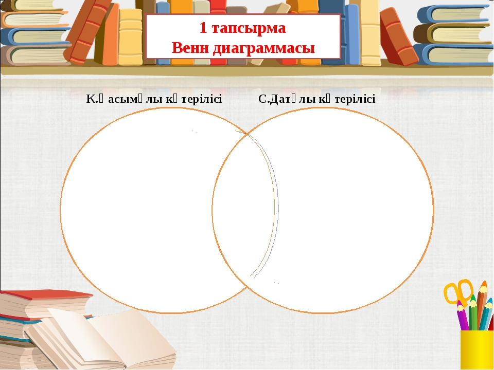 1 тапсырма Венн диаграммасы К.Қасымұлы көтерілісі С.Датұлы көтерілісі