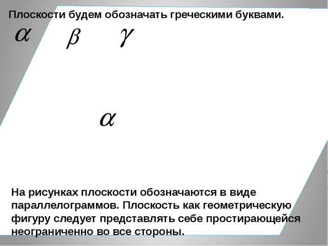 Плоскости будем обозначать греческими буквами. На рисунках плоскости обознач...