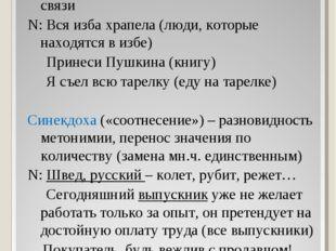 Метонимия («переименование») - перенос названия с предмета на предмет на осно