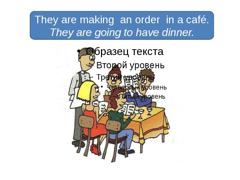 They are making an order in a café. They are going to have dinner.