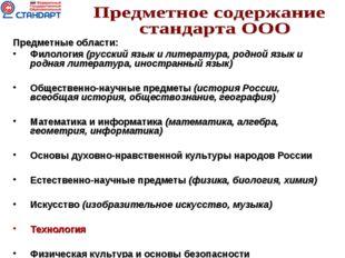 Предметные области: Филология (русский язык и литература, родной язык и родна