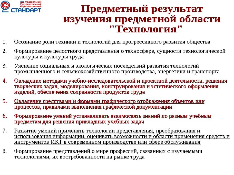 Осознание роли техники и технологий для прогрессивного развития общества Форм...