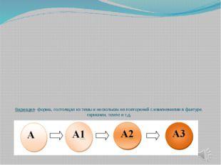 Вариация- форма, состоящая из темы и нескольких ее повторений с изменениями в