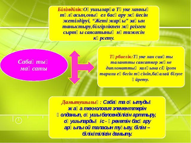 Дамытушылық: Сабақта оқытудың жаңа технология элементтерін қолданып, оқушы б...
