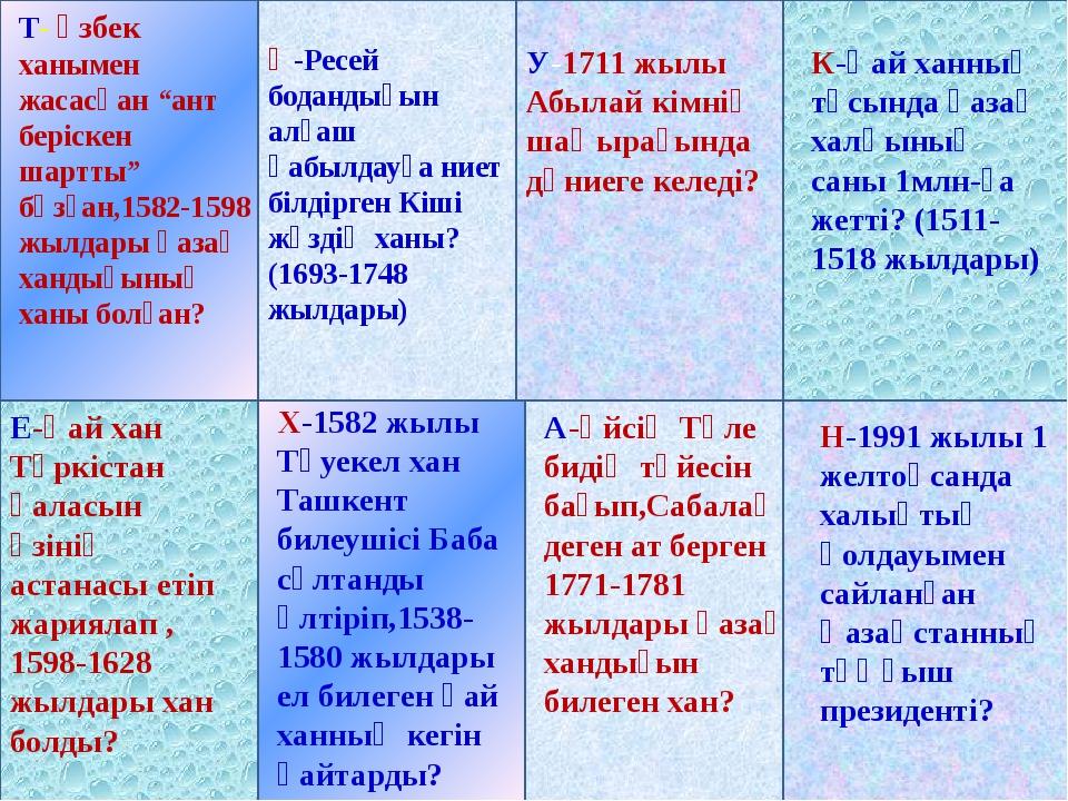 """Тәуке хан (1680-1715 ) Т- өзбек ханымен жасасқан """"ант беріскен шартты"""" бұзған..."""