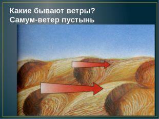Какие бывают ветры? Самум-ветер пустынь