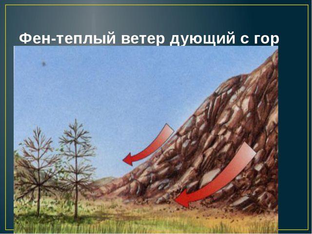 Фен-теплый ветер дующий с гор