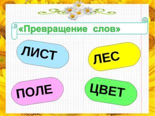 ЛИСТ ЛЕС ПОЛЕ ЦВЕТ