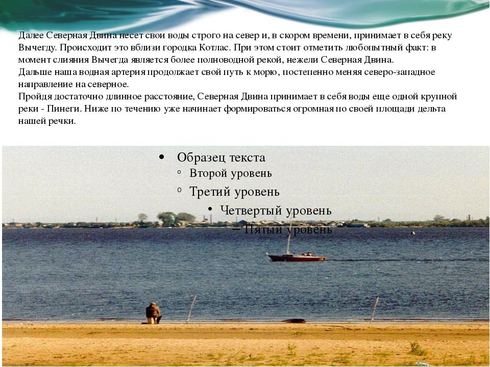 Далее Северная Двина несет свои воды строго на север и, в скором времени, при...