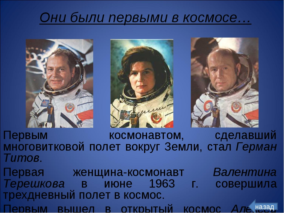 Первым космонавтом, сделавший многовитковой полет вокруг Земли, стал Герман Т...