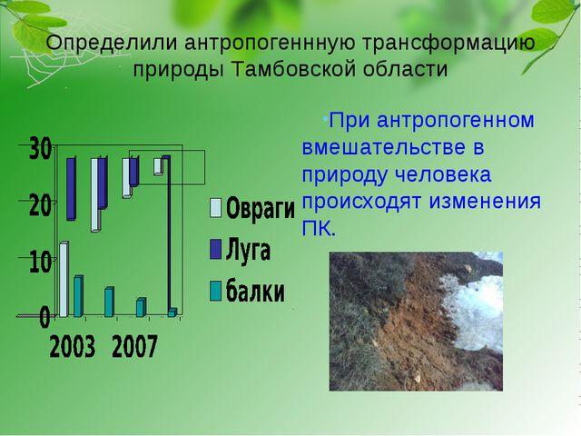 Определили антропогеннную трансформацию природы Тамбовской области При антроп...