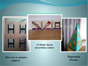Блок «Развитие коммуникации и речи» «Кто-кто в домике живет» «Собери звуки- п