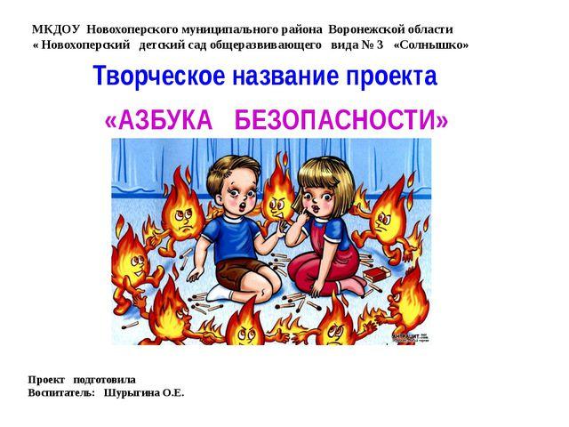 МКДОУ Новохоперского муниципального района Воронежской области « Новохоперски...