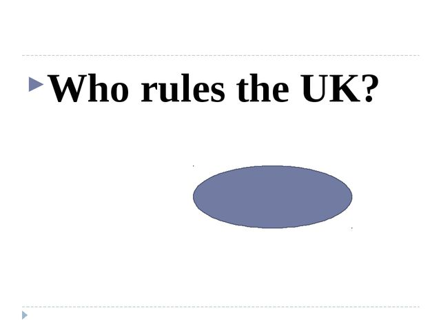 Who rules the UK? The queen