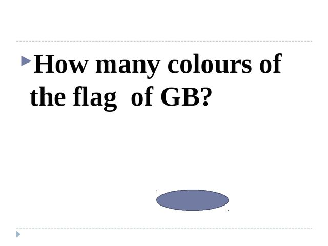 How many colours of the flag of GB? 3