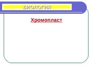 Хромопласт БИОЛОГИЯ