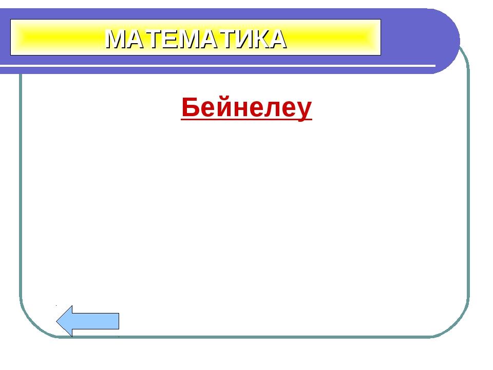 Бейнелеу МАТЕМАТИКА