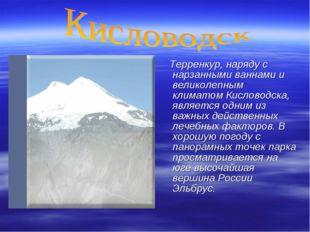 Терренкур, наряду с нарзанными ваннами и великолепным климатом Кисловодска,