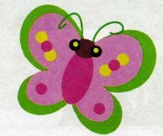 Бабочка из цветной бумаги для детей