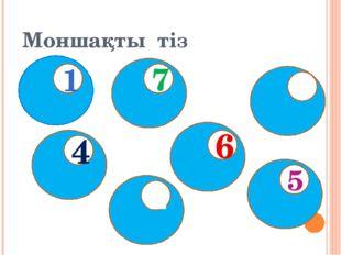 Моншақты тіз 5 3 2 7 4 1 6