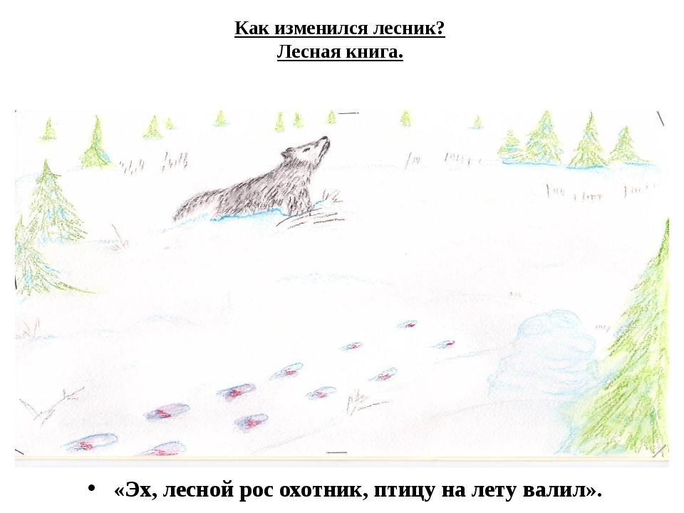 Как изменился лесник? Лесная книга. «Эх, лесной рос охотник, птицу на лету ва...