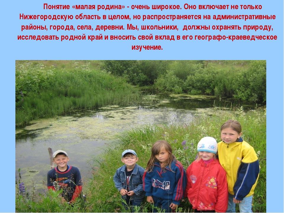 Понятие «малая родина» - очень широкое. Оно включает не только Нижегородскую...