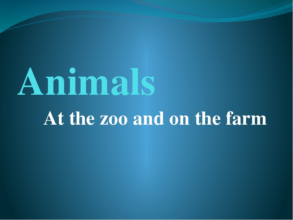 Animals At the zoo and on the farm