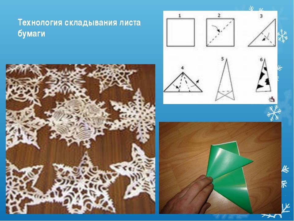 Технология складывания листа бумаги