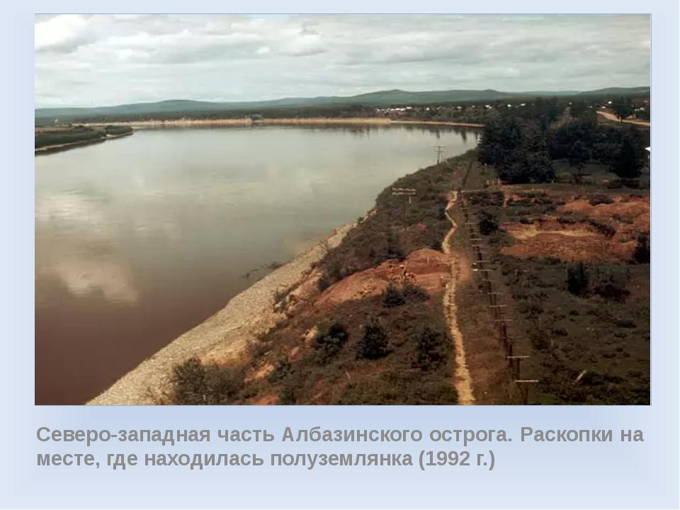 Северо-западная часть Албазинского острога. Раскопки на месте, где находилас...