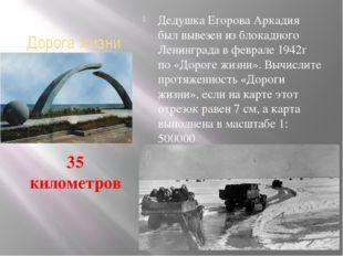 Дорога жизни Дедушка Егорова Аркадия был вывезен из блокадного Ленинграда в ф