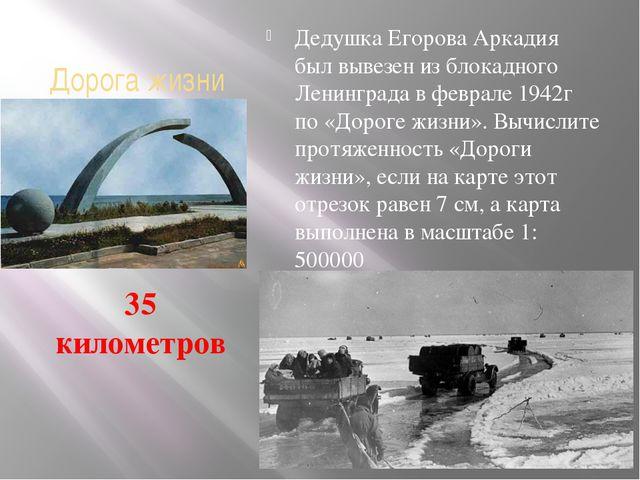 Дорога жизни Дедушка Егорова Аркадия был вывезен из блокадного Ленинграда в ф...