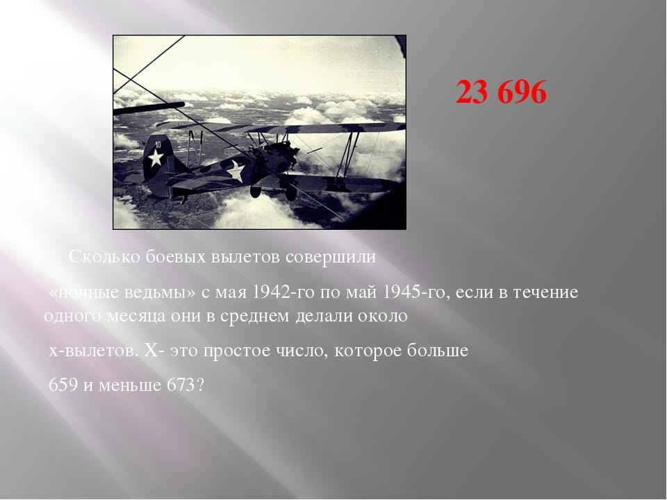 Сколько боевых вылетов совершили «ночные ведьмы» с мая 1942-го по май 1945-го...
