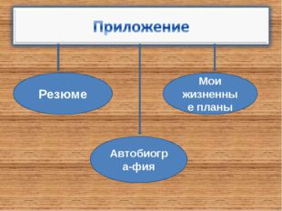 Резюме Мои жизненные планы Автобиогра-фия
