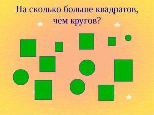 На сколько больше квадратов, чем кругов?