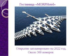 Открытие запланировано на 2022 год. Около 300 номеров Гостиница «MORPHotel»