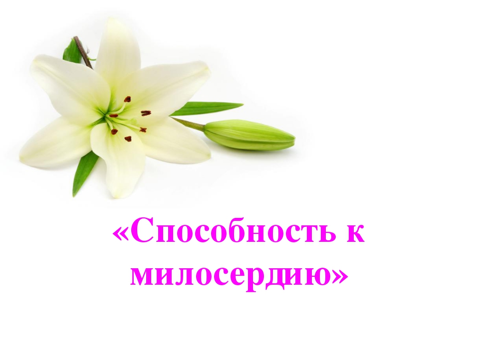 «Способность к милосердию»
